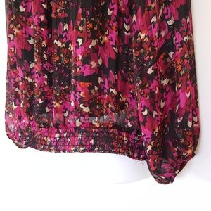 Lane Bryant Tops - Lane Bryant Fuschia Pouf Sleeve Off Shoulder 18/20